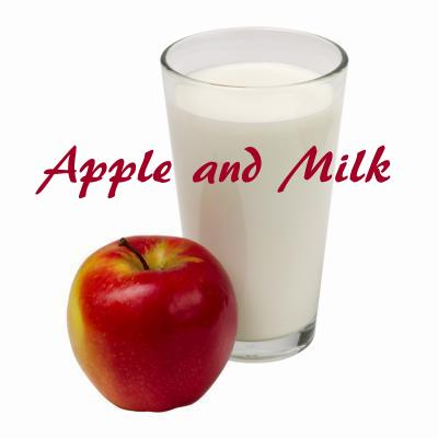 best breakfast apple and milk