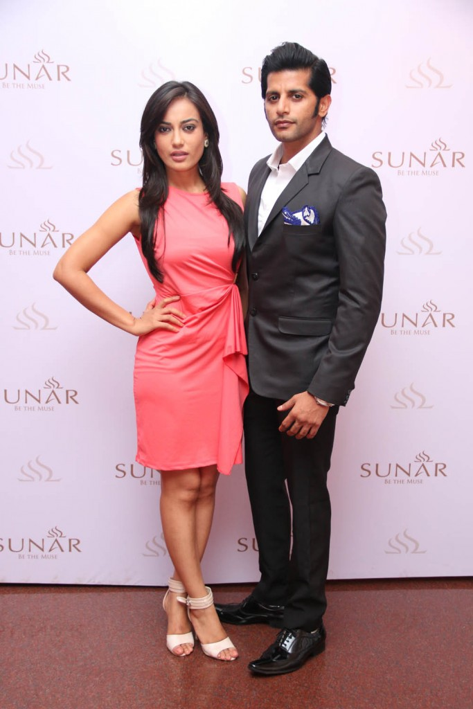 Actor Karanveer Vohra and Actress Surbhi Jyoti at Sunar Launch