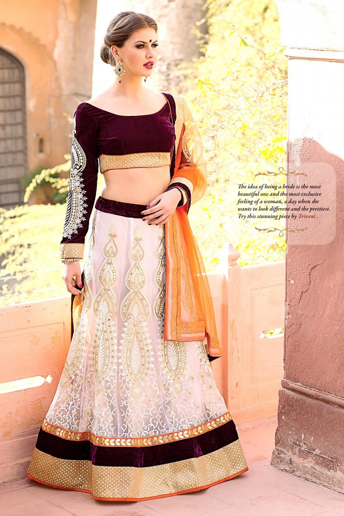 Exclusive Designer Lehenga Collections White Treveni