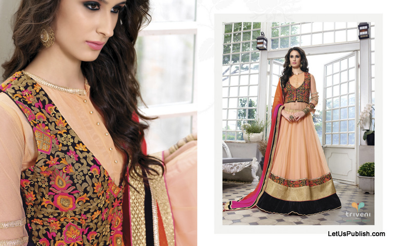Girlish Designer Party Wear Lehenga Collection by Triveni Latest designs