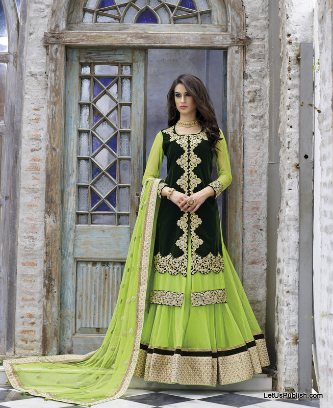 Latest lehenga images from Triveni