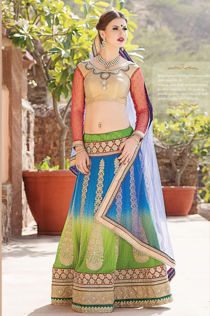 Multi Color Designer Lehenga By Treveni