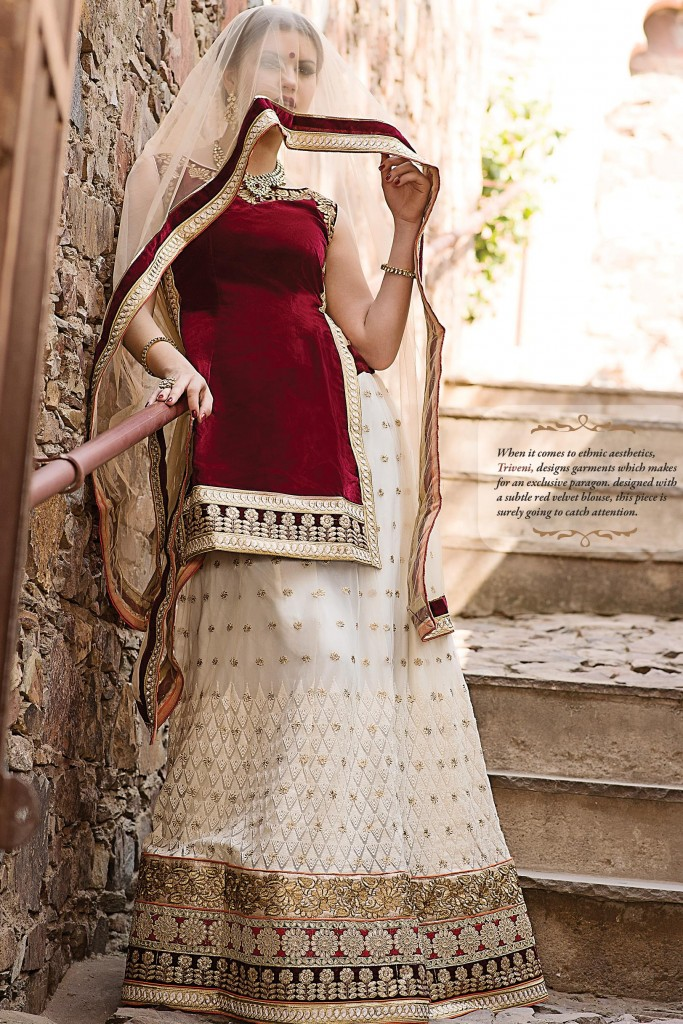 Royal Bride Lehenga Designs 2015 by Triveni