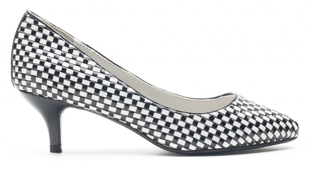 The Classic White and Black Heels - Heel and Buckle