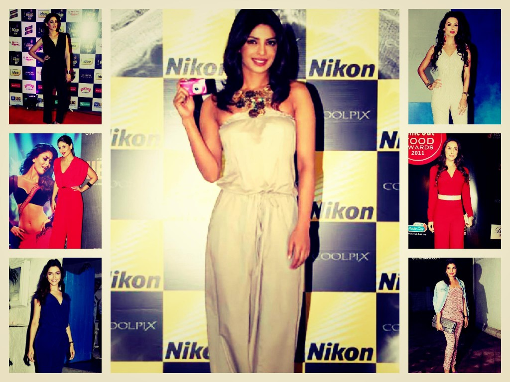Bollywood Actress Deepika, Priyanka, Malaika, Nargis In JumpSuits