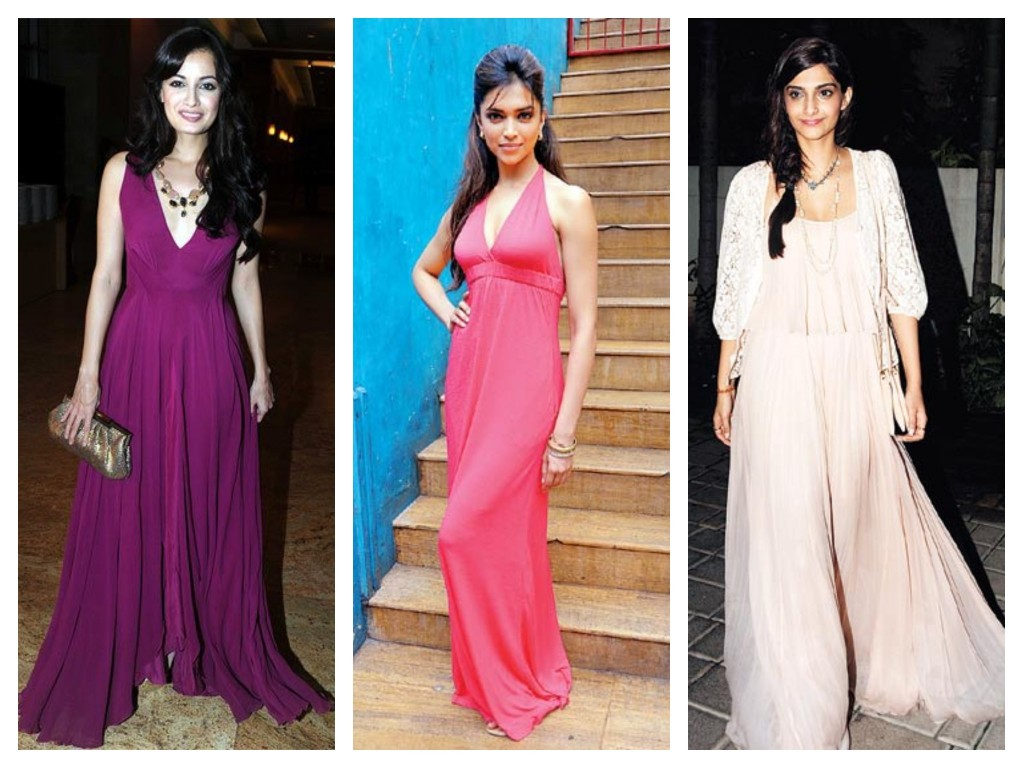 Deepika, Dia and Sonam Kapoor In Maxi Dress