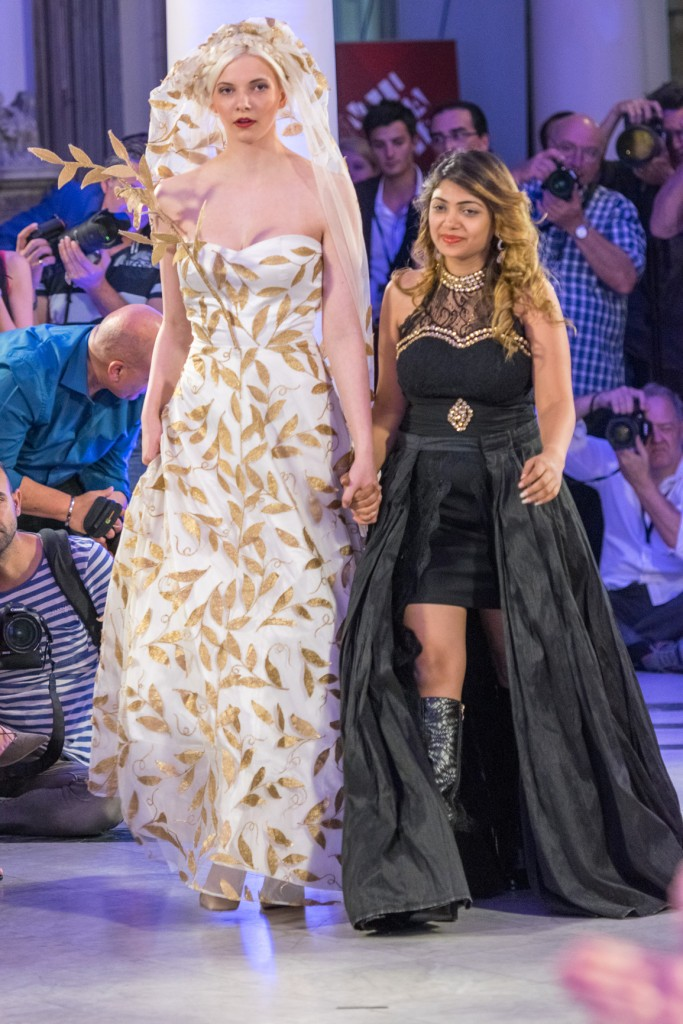 Sai Suman with Show Stopper at Mercedes Benz Fashion Week 2015