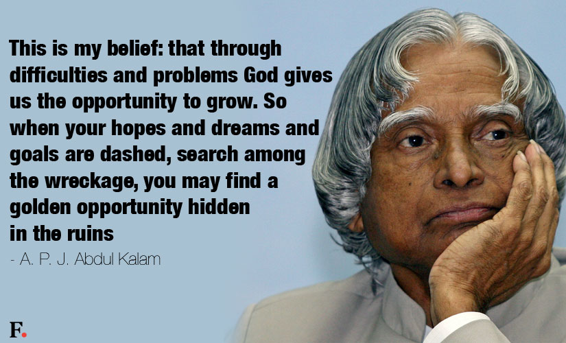 Abdul Kalam quotes on Problems of Life