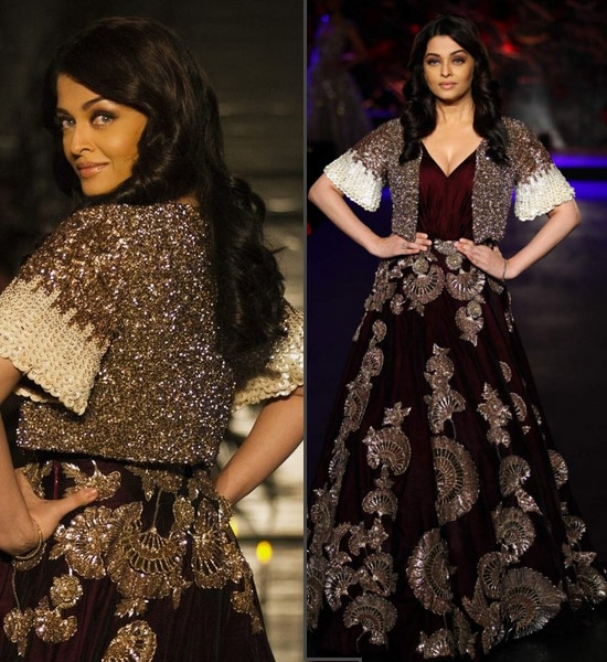 Aishwarya Rai Bachchan for Manish Malhotra at AIFW2015