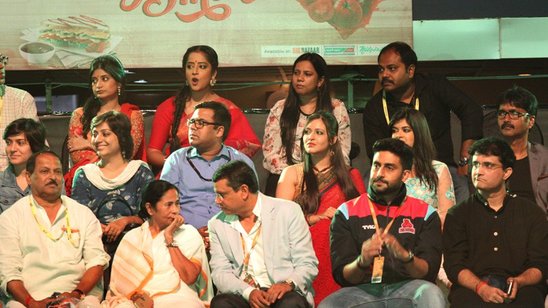 CM Mamata Banerjee at Pro Kabaddi League , Abhishek Bachchan and Ganguly