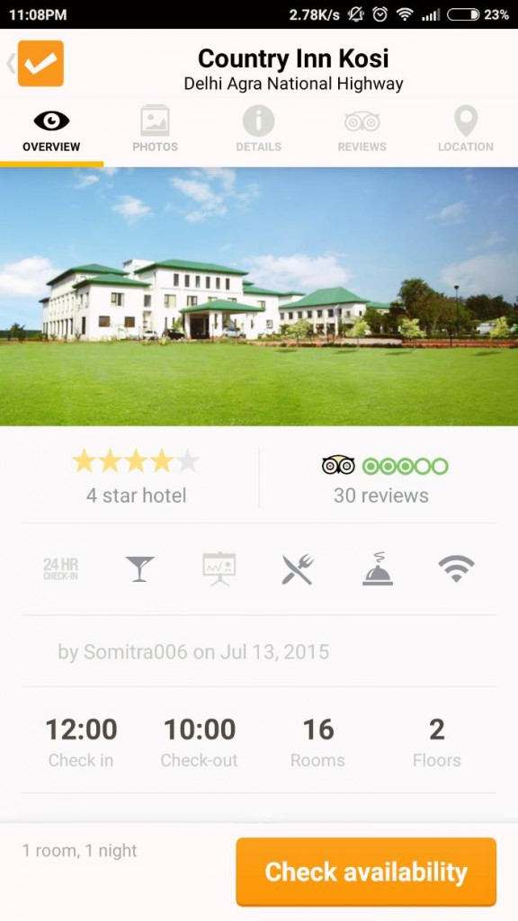 ClearTrip _ Country Inn Kosi Review
