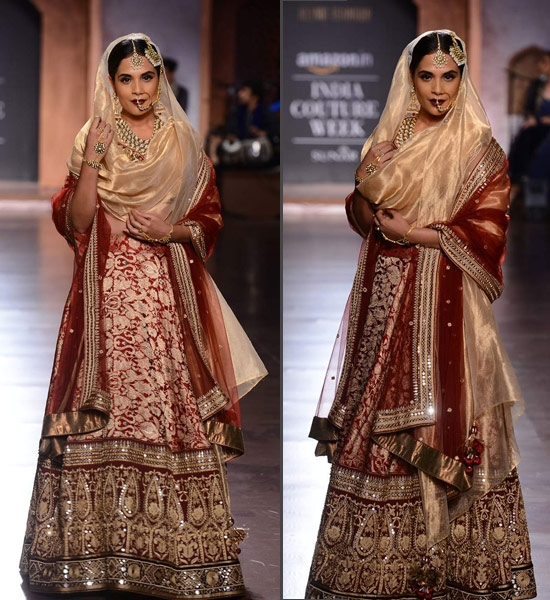 Richa Chadda bridal look for Reynu Taandon at Aicw2015
