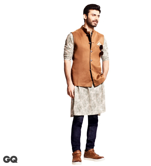 Actor Fawad Khan in Indo Western Look, latest fashion for men Insipred from Fawed Khan Look