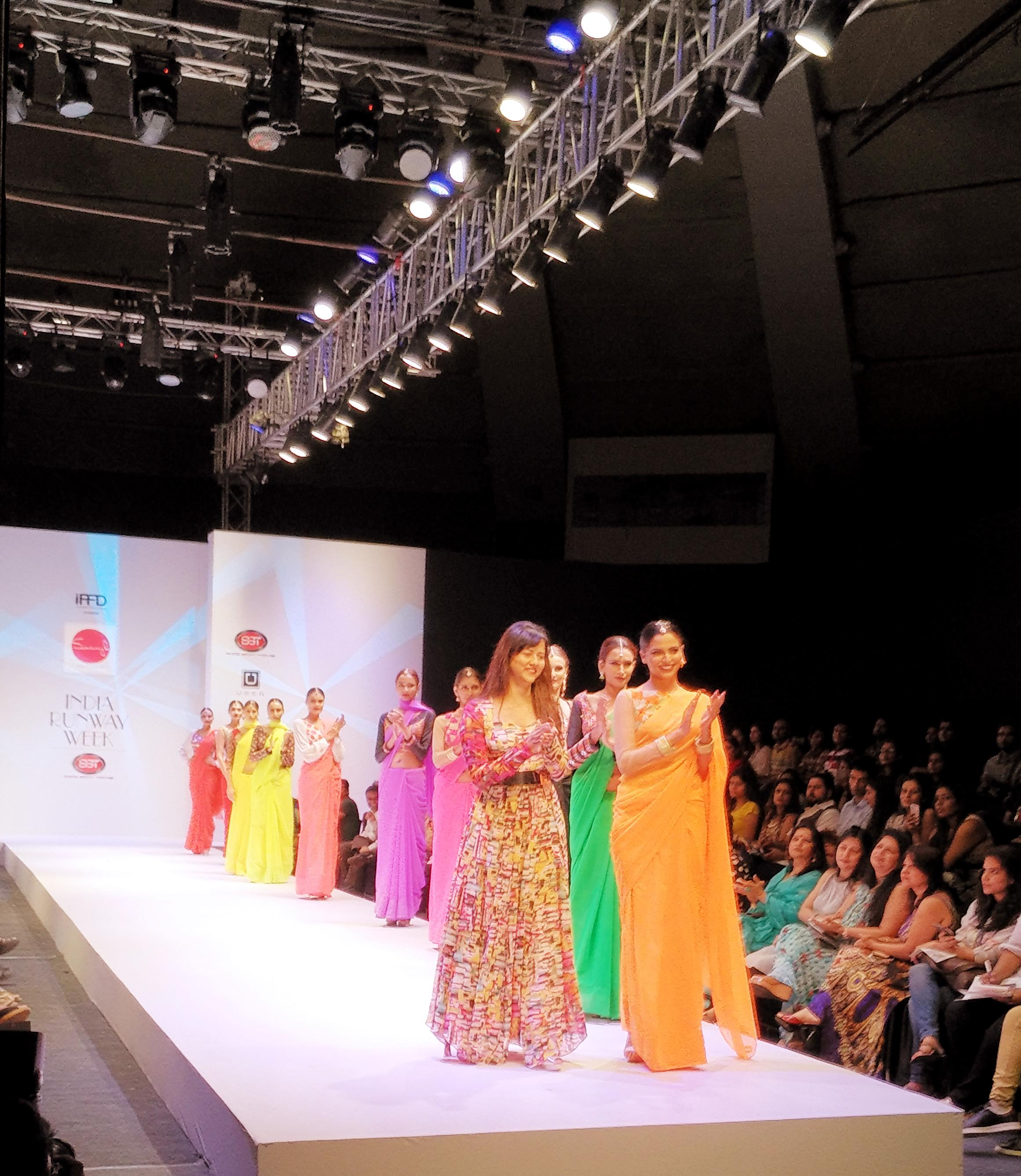 Models with Deigner at Ramp India Runway Week