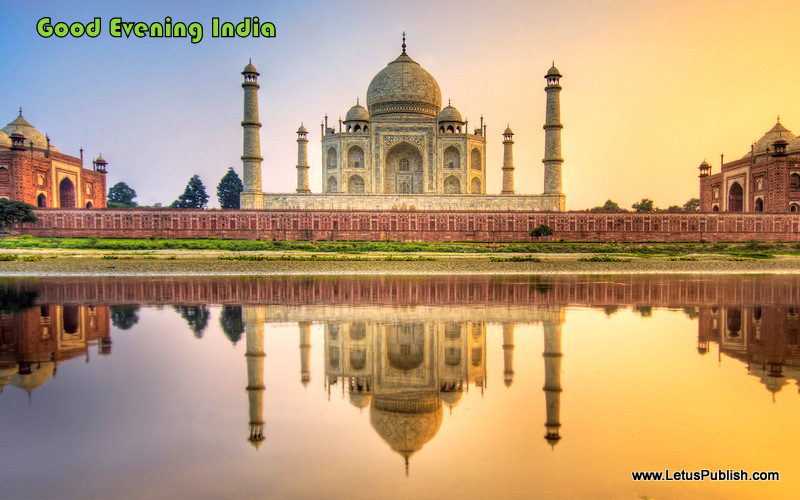 Beautiful Taj Mahal In Evening Wallpaper