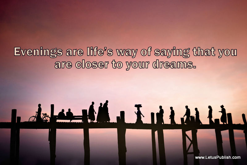 Amamzing Evening photography wallpaper with Quotes