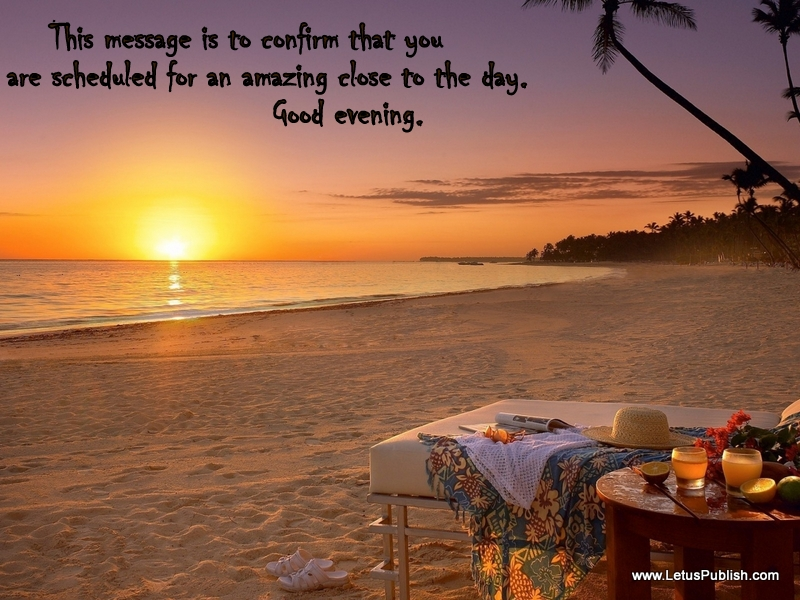 Hd evening photo with Quotes