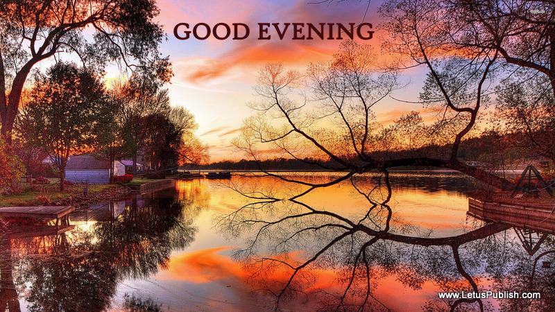 River side Evening wallpaper