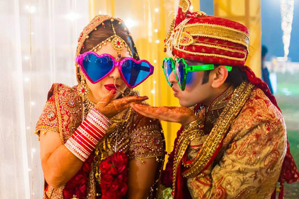 Indian Couple Wedding Day Poses for Wedding Portrait