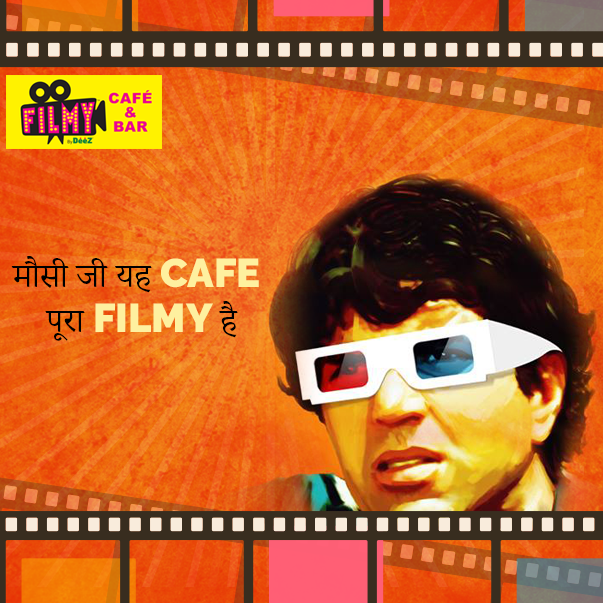 Filmy theme at Filmy Bar and Cafe