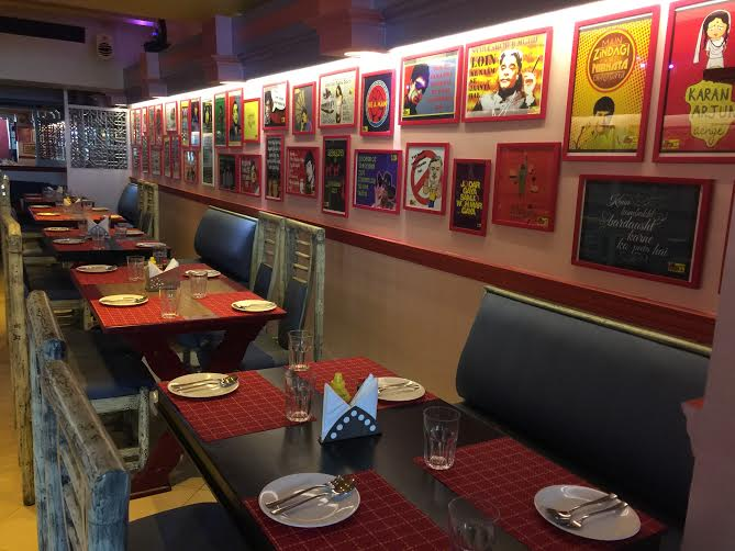 Filmy theme at Filmy Bar and Cafe CP