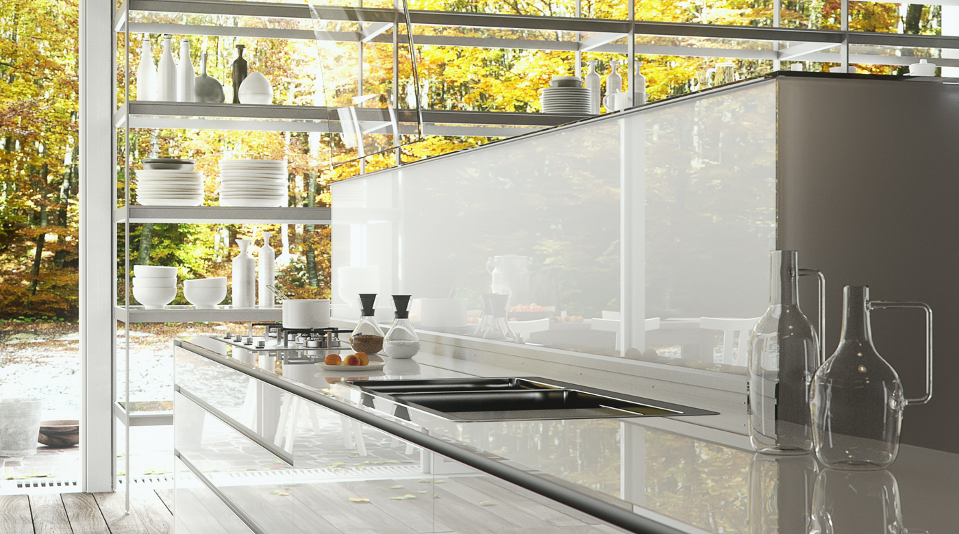 Outdoor Glass Kitchen Ideas