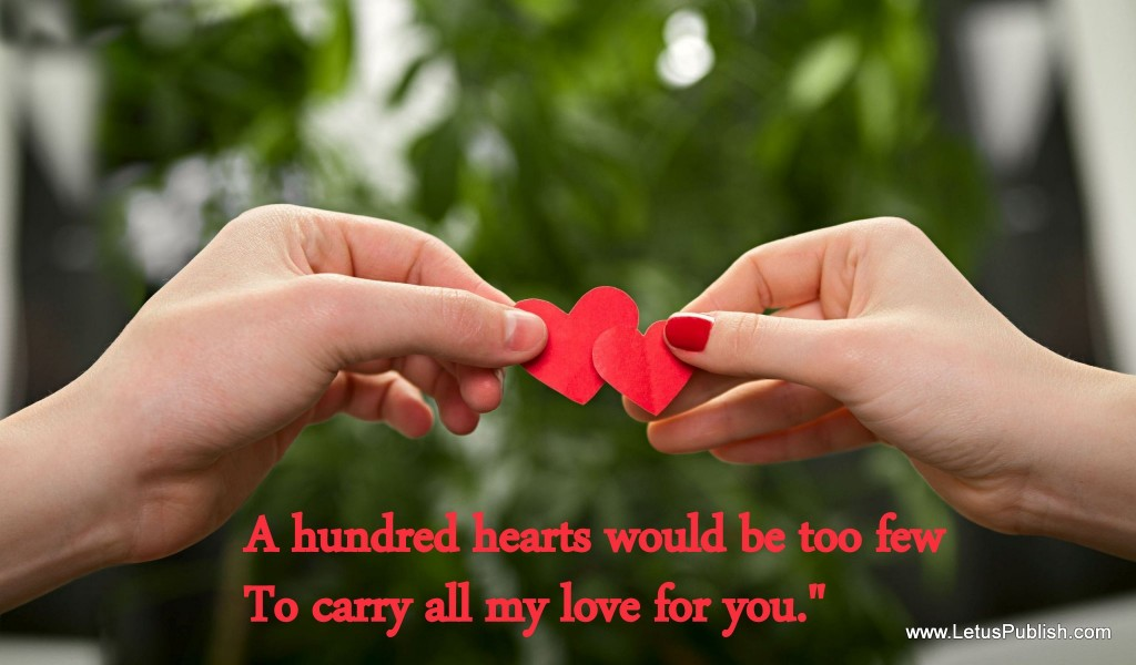 Beautiful love heart wallpaper with quotes