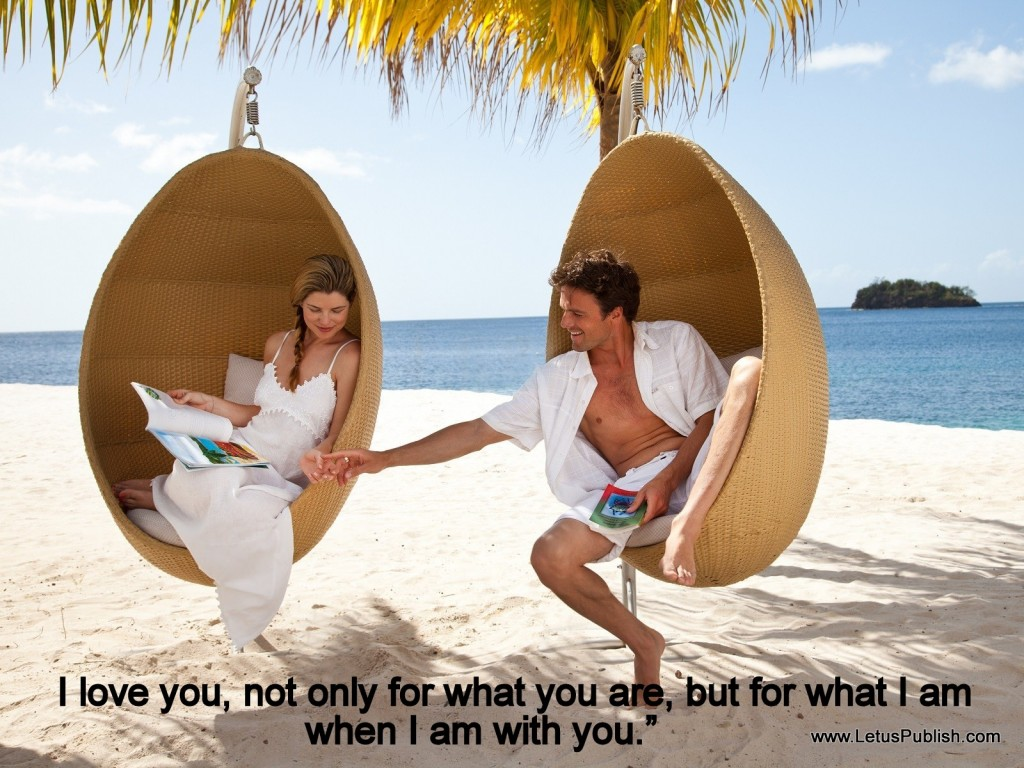 Beautiful romantic couples wallpaper with quotes