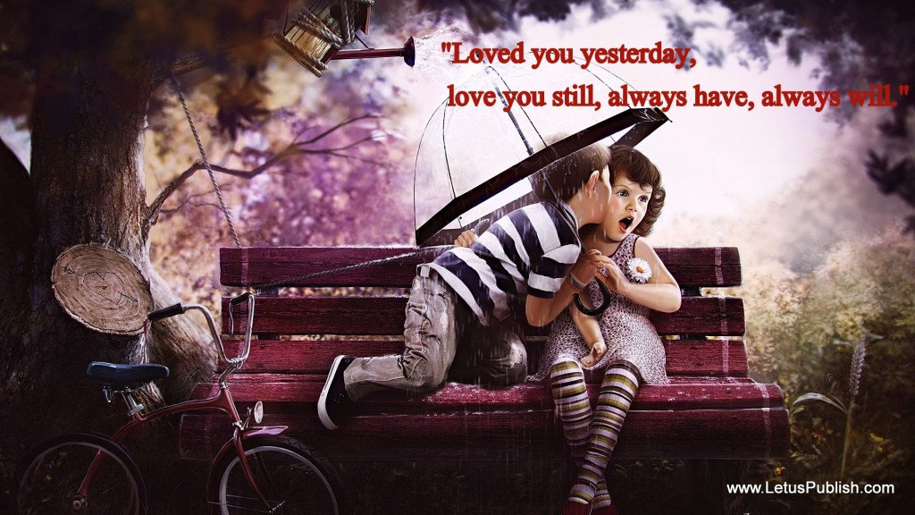 Cute love hd wallpaper with love Message
