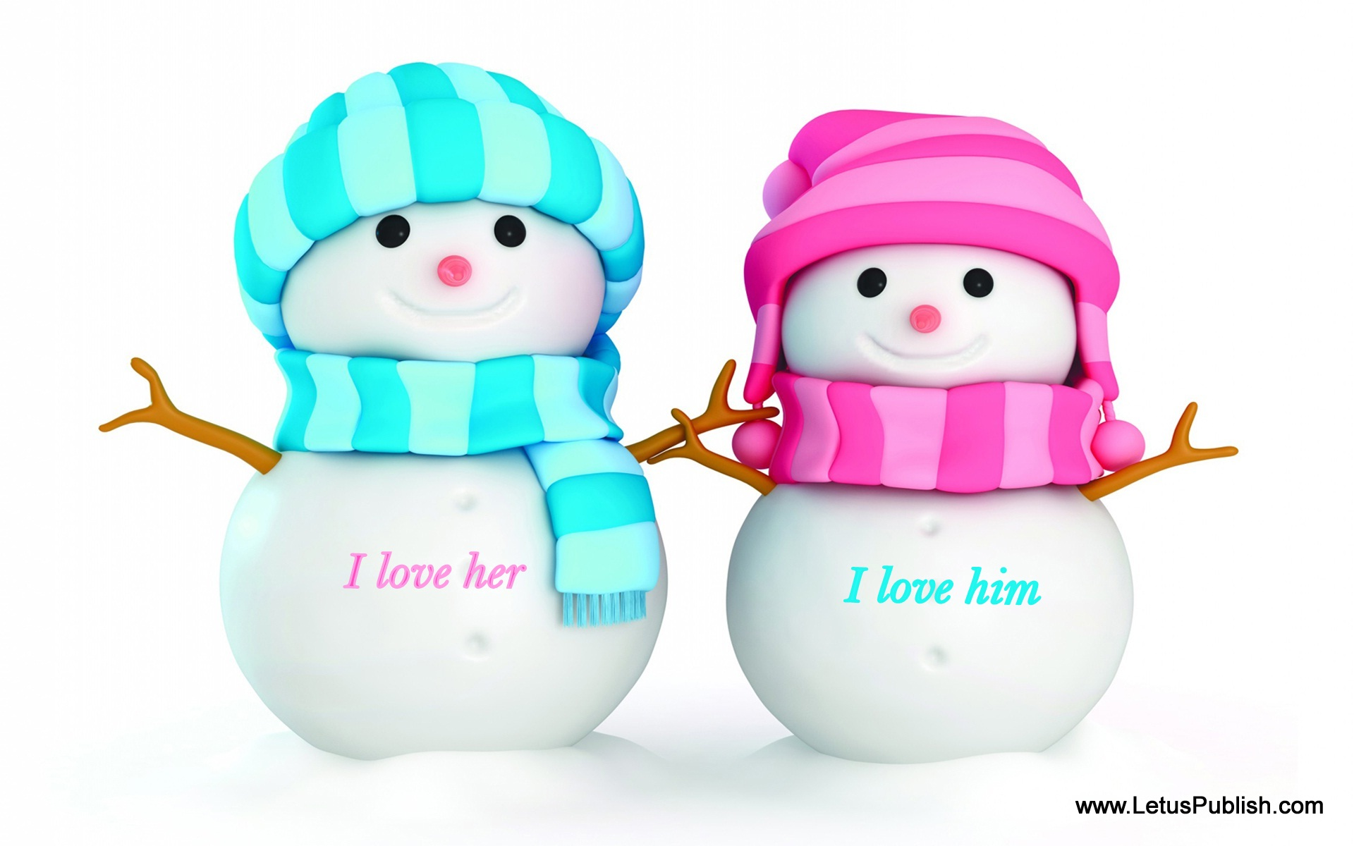 Cute romantic snowy couples love images