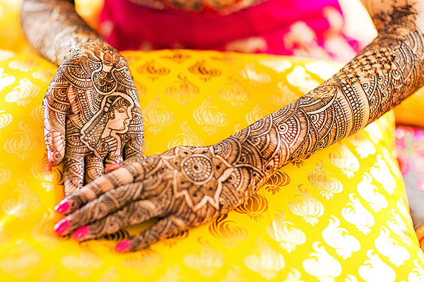 Rajashani Mehndi Design for Bride