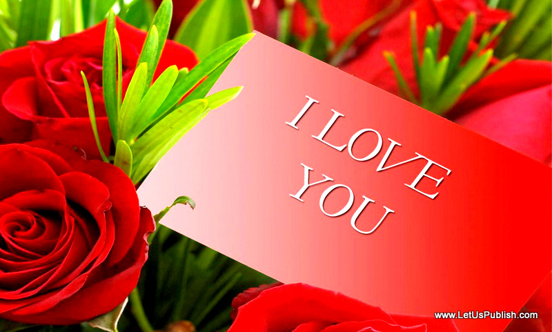 Red Roses with i love you Photo
