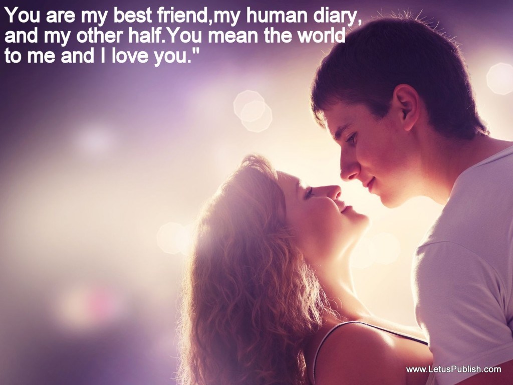Sweet love couples HD wallpaper with quotes