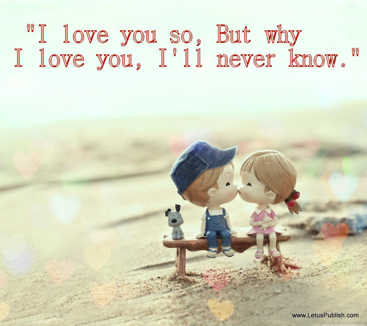 cute romantic wallpaper with quotes