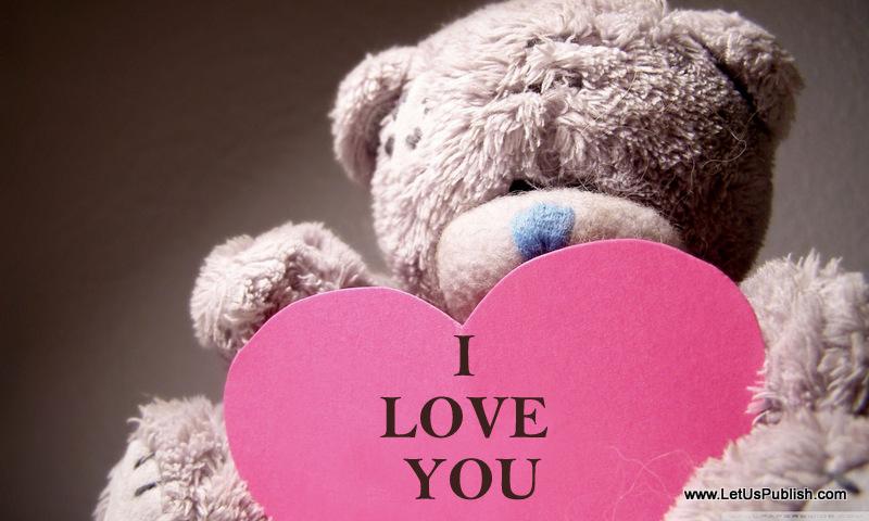 I love You Teddy Wallpaper
