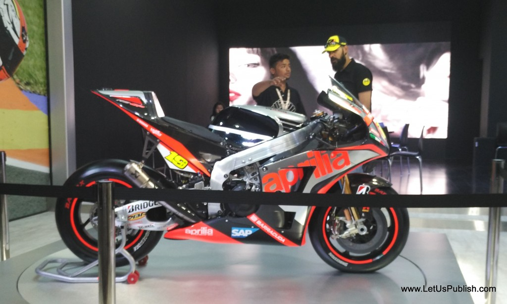 Aprilla Bike at motor show