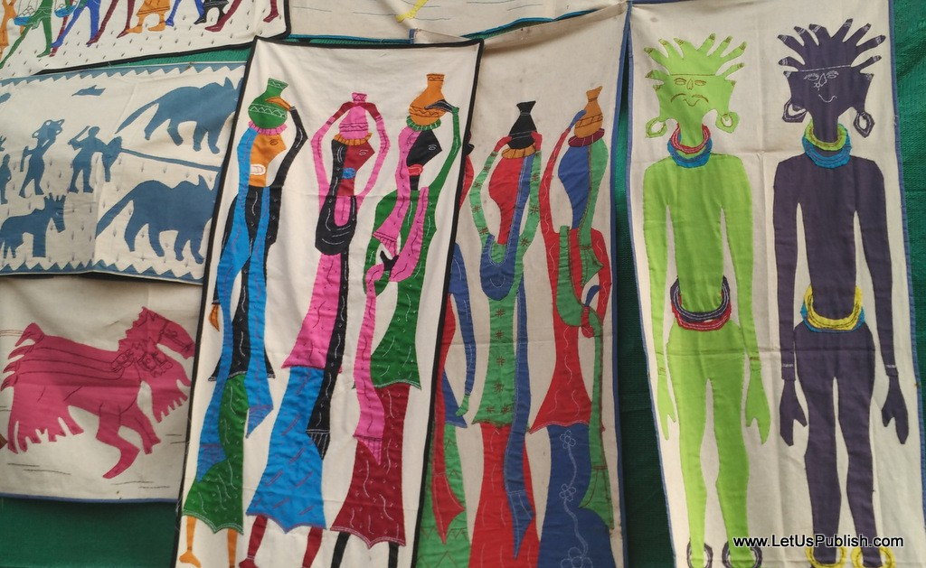 Art work on fabrics - Surajkund Mela Pictures 2016.jpg