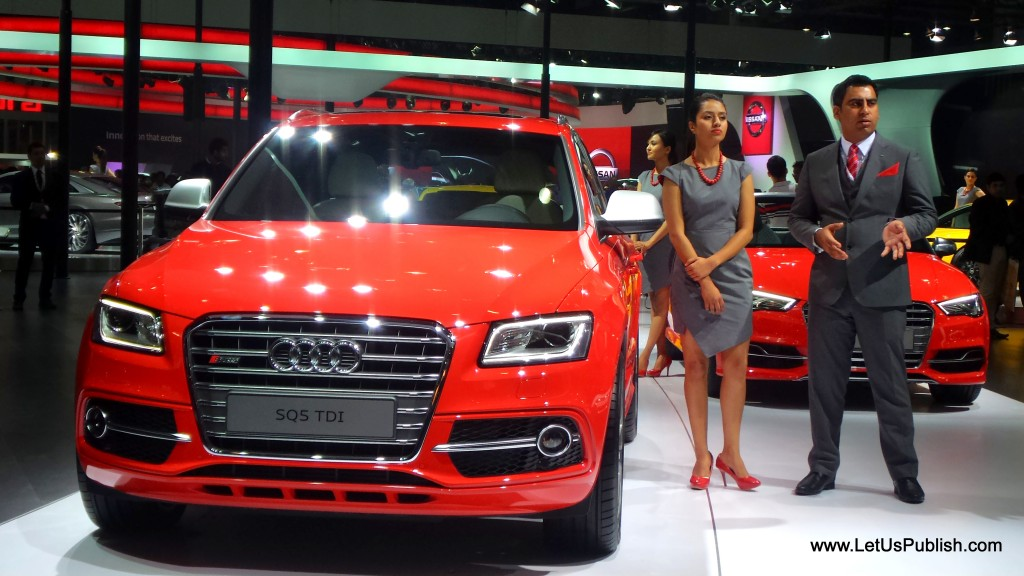 Audi SQ5 Tdi at auto expo 2016