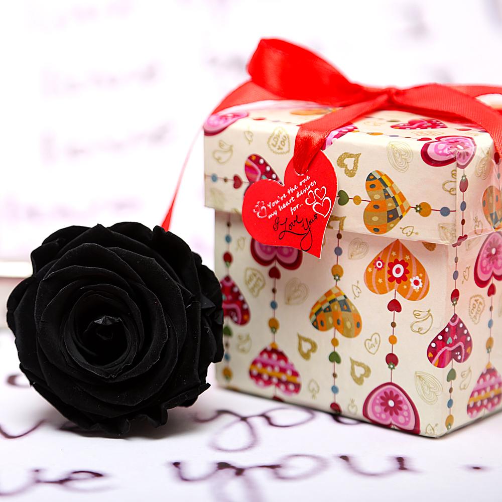 Black Valentine Forever Rose