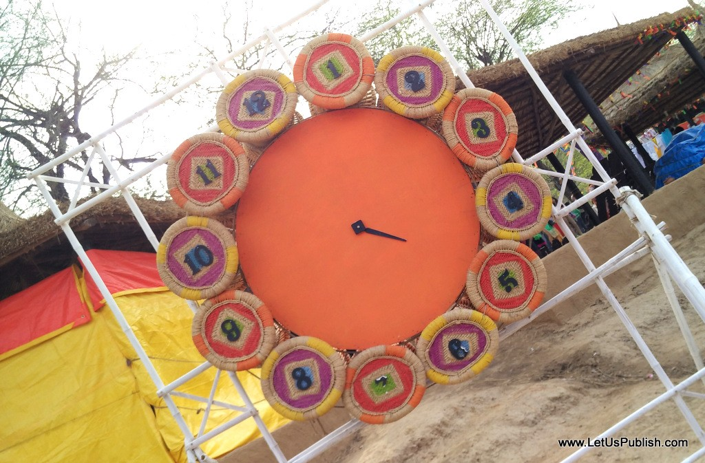 CLock art work- Surajkund Mela Pictures 2016.jpg