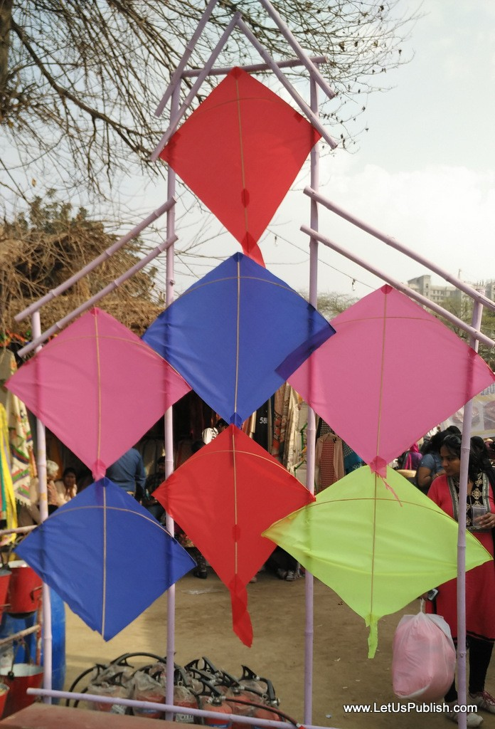 Colorful Kites Decoration at Surajkund Mela Pictures 2016.jpg