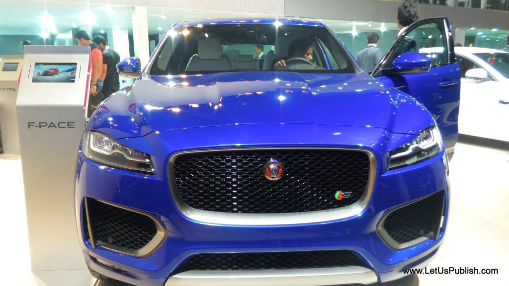 F pace car at car show
