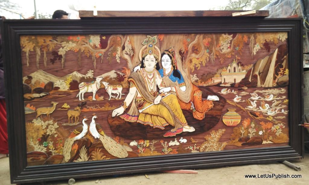 Radha Krishna Art work- Surajkund Mela Pictures 2016.jpg