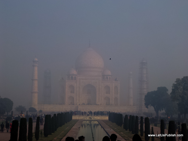 Taj Mahal In Foggy Early Morning