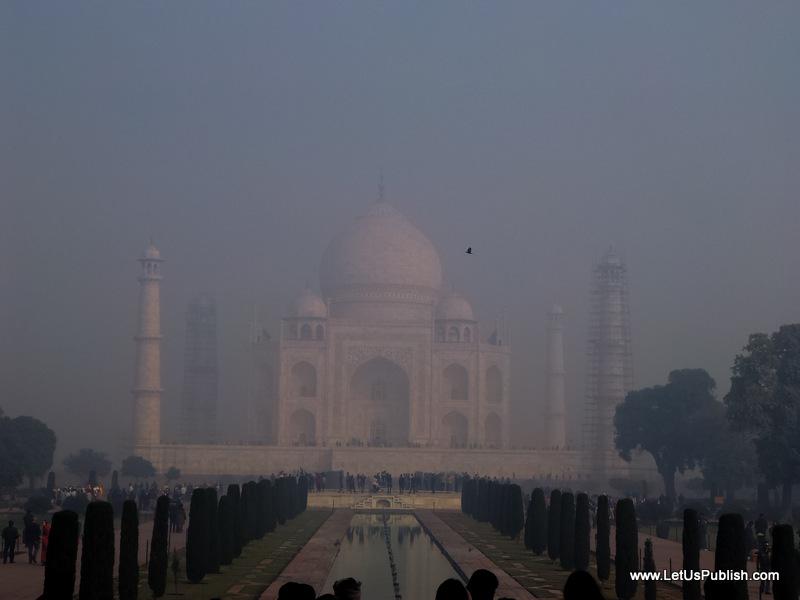 Taj Mahal In Foggy Early Morning