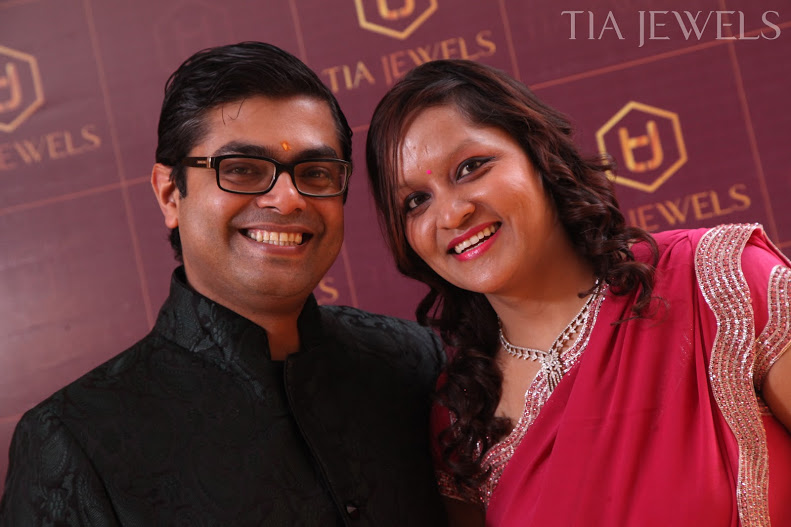 Tia Jewels Owner Shaalu Jain With Her Husband at launch