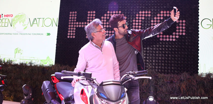 Ranbir kapoor at Hero Hall auto expo