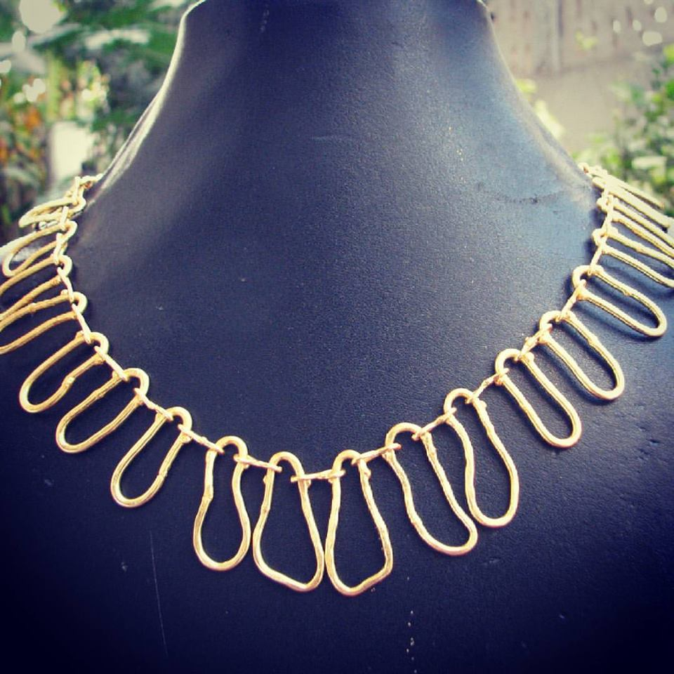 Assymetrical chain necklace Latest designer jewellery from Gharaz