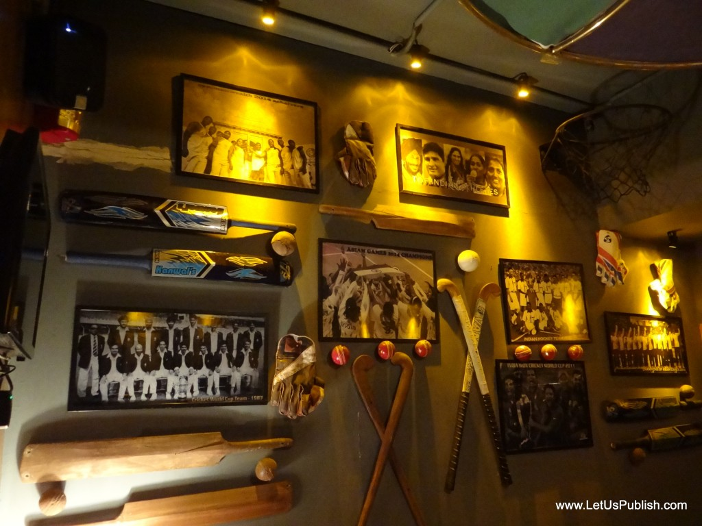 Cafe Public Connection Bar Cp New Delhi Sports Theme