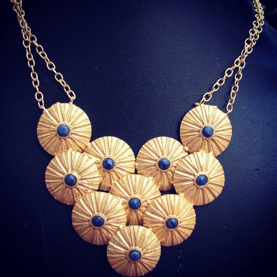 Designer gold necklaces from Gharaz